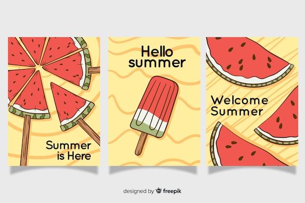 Handgezeichnete sommerkarten