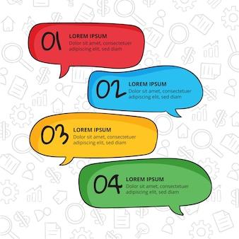 Handgezeichnete sprechblasen infografiken