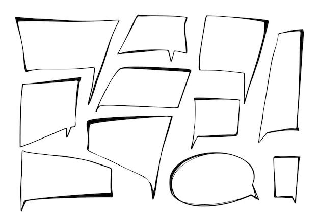 Handgezeichnete sprechblasen