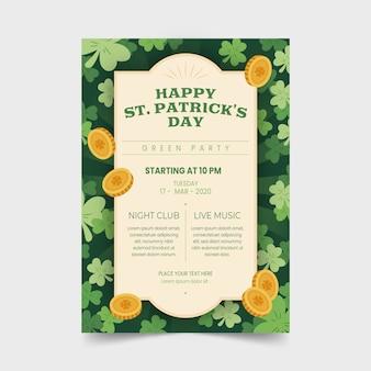 Handgezeichnete st. patrick's day flyer
