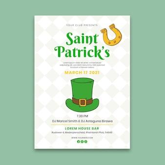 Handgezeichnete st. patrick's day vertikale poster vorlage