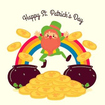 Handgezeichnete st. patricks day feier design