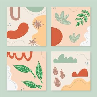 Handgezeichnete stil abstrakte formen cover-sammlung