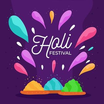 Handgezeichnete stil holi festival