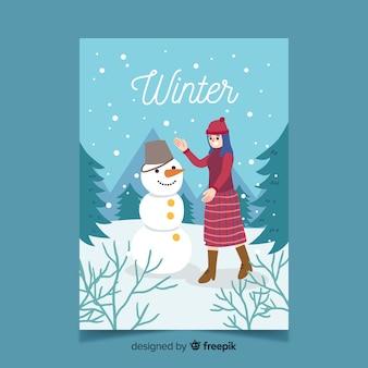 Handgezeichnete stil saisonale plakatsammlung