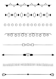 Handgezeichnete teiler