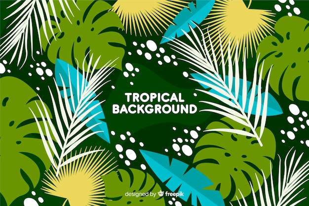 Handgezeichnete tropischen hintergrund
