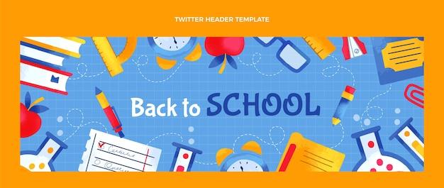 Handgezeichnete twitter-header in der schule school Kostenlosen Vektoren
