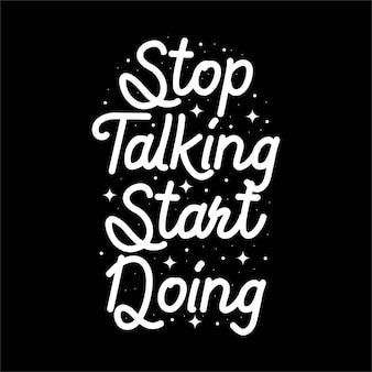 Handgezeichnete typografie motivierende inspirierende zitate