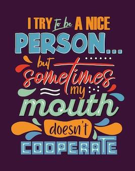 Handgezeichnete typografie plakat schriftzug