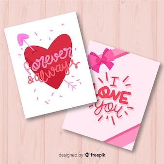 Handgezeichnete valentinskarte