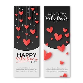 Handgezeichnete valentinstag banner