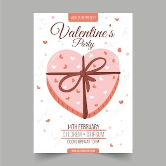 Handgezeichnete valentinstag party vorlage