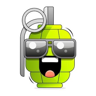 Handgezeichnete vektor-illustration mit granate. verwendet für poster, banner, t-shirt-druck, taschendruck, abzeichen und logo-design