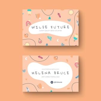 Handgezeichnete visitenkarte