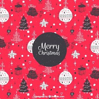 Handgezeichnete weihnachten muster