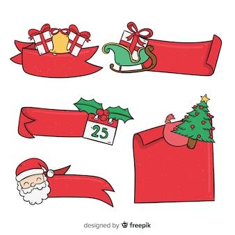 Handgezeichnete weihnachtsbänder