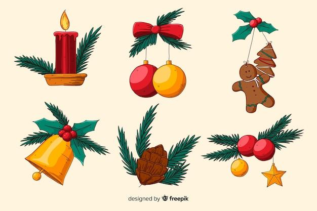 Handgezeichnete weihnachtsdekoration