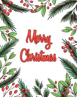 Handgezeichnete weihnachtsdekoration.