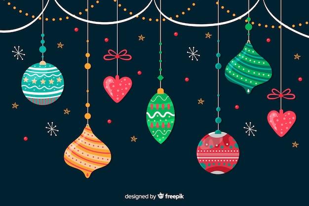 Handgezeichnete weihnachtskugel sammlung