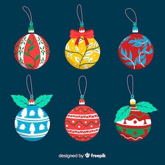 Handgezeichnete weihnachtskugeln