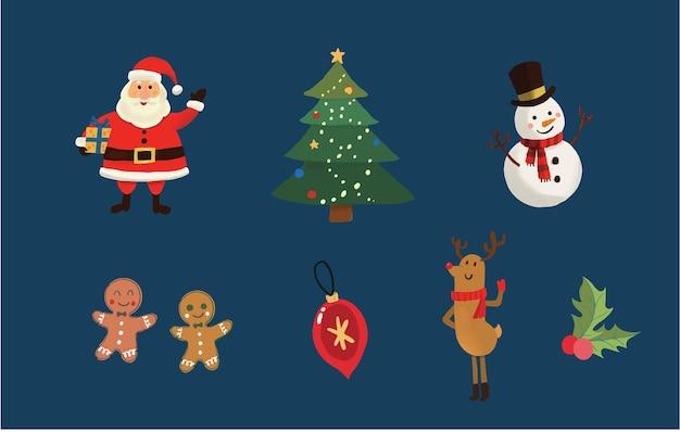 Handgezeichnete weihnachtsschmuck