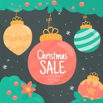Handgezeichnete weihnachtsverkauf