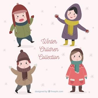 Handgezeichnete Winterkollektion