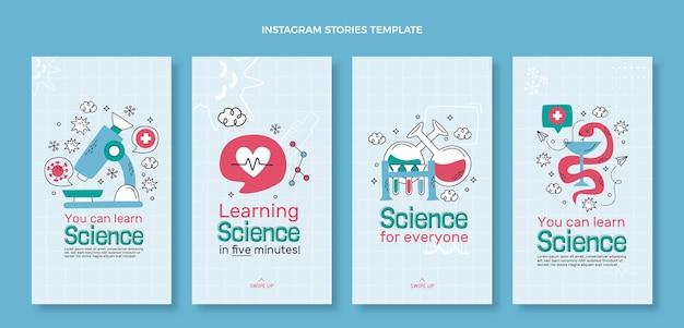 Handgezeichnete wissenschaftsgeschichten