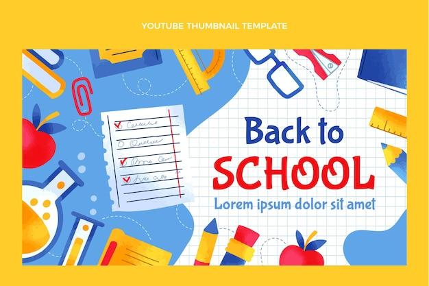 Handgezeichnete youtube-miniaturansicht zur schule zurück