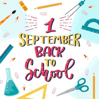 Handgezeichneter 1-september-schriftzug