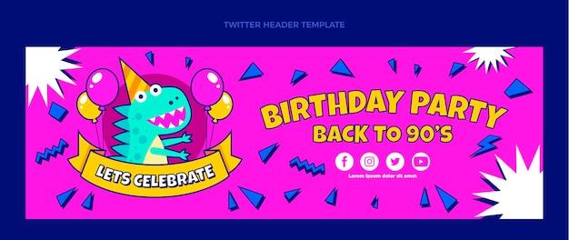 Handgezeichneter 90sbirthday-twitter-header