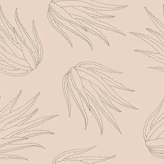 Handgezeichneter aloe-vera-hintergrund