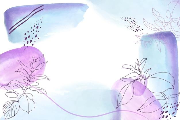 Handgezeichneter aquarellhintergrund