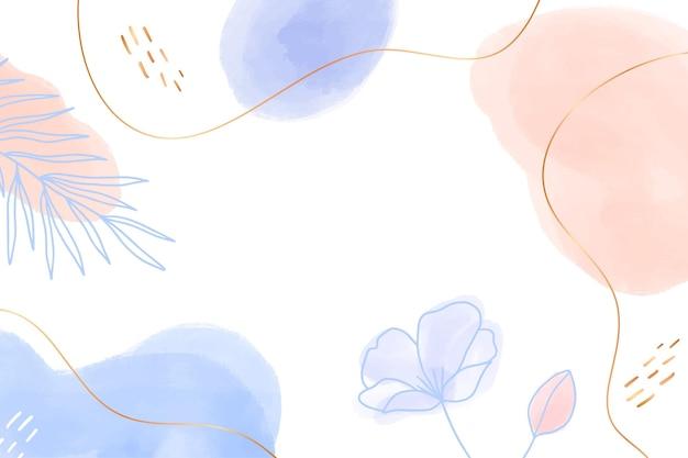 Handgezeichneter blumenhintergrund