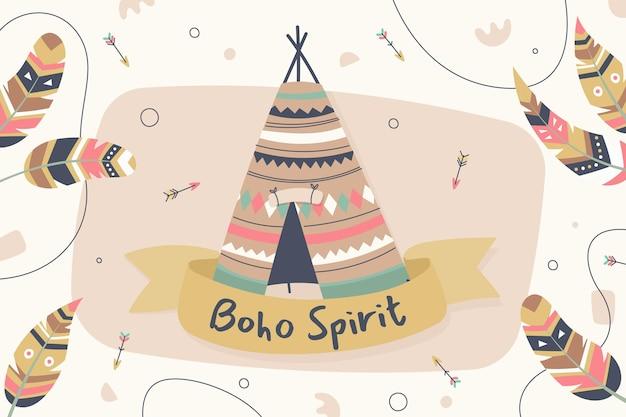 Handgezeichneter boho-geist-hintergrund