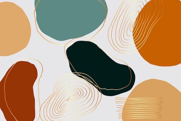 Handgezeichneter bunter minimaler hintergrund
