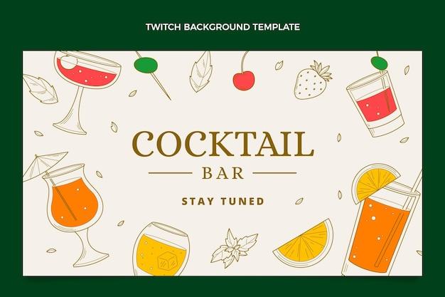 Handgezeichneter cocktailbar-zuckenhintergrund