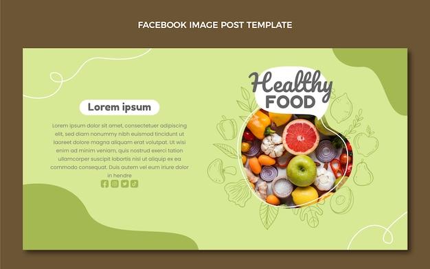 Handgezeichneter facebook-post zum essen