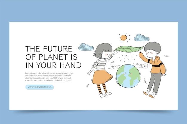 Handgezeichneter facebook-post zum klimawandel