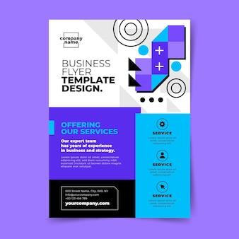 Handgezeichneter flacher design-business-flyer