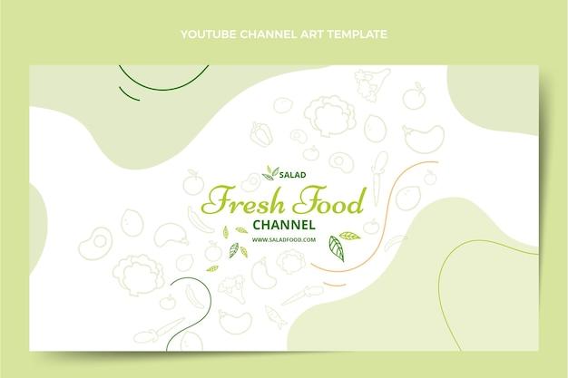 Handgezeichneter food-youtube-kanal