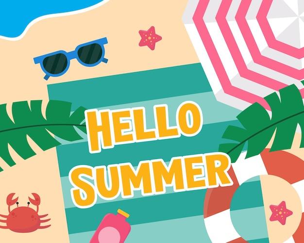 Handgezeichneter hallo sommer