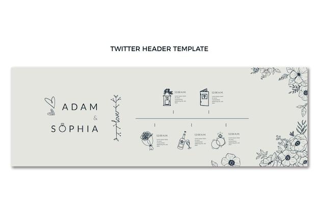Handgezeichneter hochzeits-twitter-header