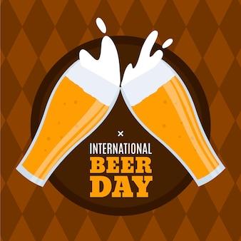 Handgezeichneter internationaler biertag