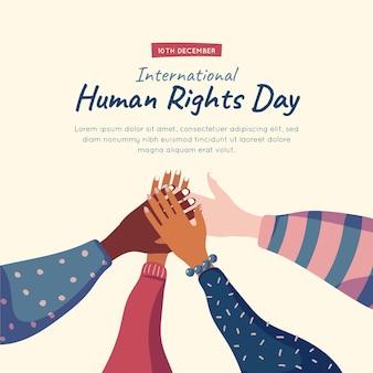 Handgezeichneter internationaler tag der menschenrechte