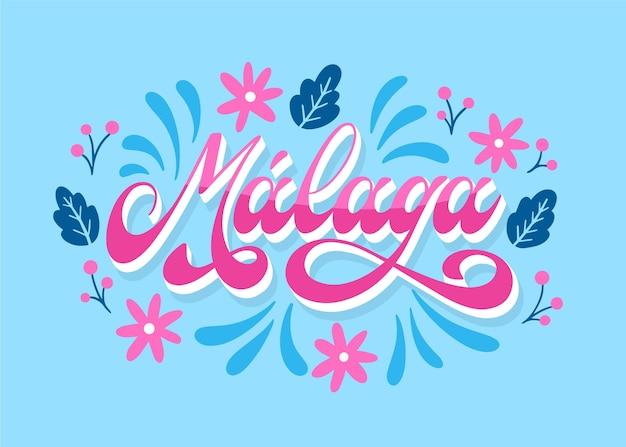 Handgezeichneter malaga-schriftzug
