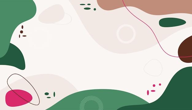 Handgezeichneter minimaler hintergrund mit flachem stil