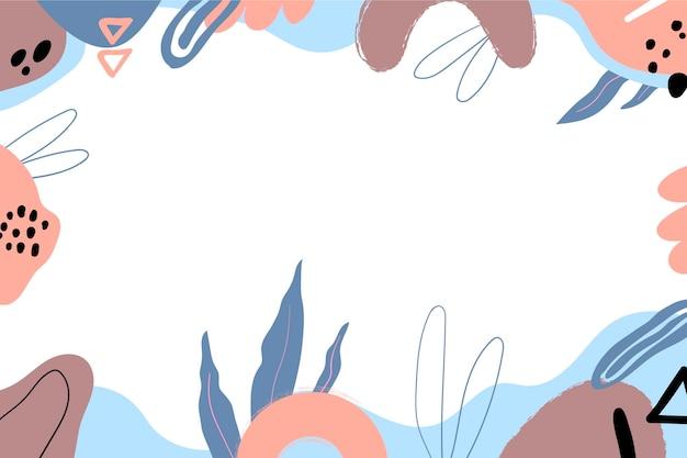Handgezeichneter minimaler hintergrund mit leerem raum