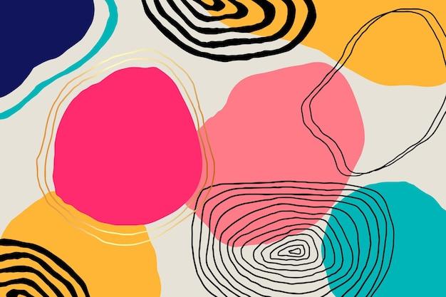 Handgezeichneter minimaler hintergrund mit linien